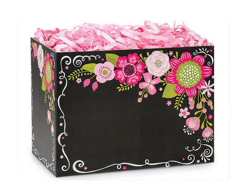 Chalkboard Flowers Small Popcorn Box