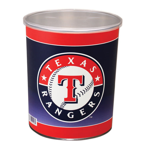 Texas Rangers One Gallon Popcorn Tin