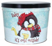 Baby Its Cold Outside Two Gallon Tin