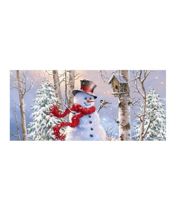 Birch Forest Snowman Three Gallon Tin