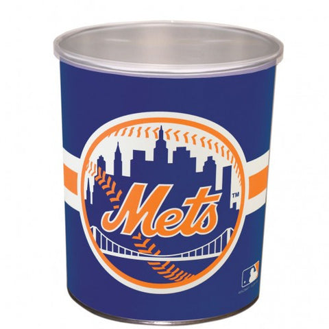 New York Mets One Gallon Popcorn Tin