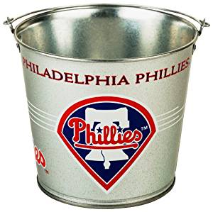 Philadelphia Phillies Five Quart Galvanized Popcorn Pail