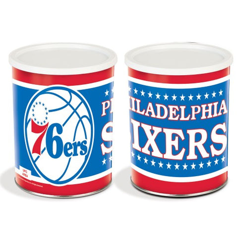Philadelphia Seventy Sixers One Gallon Popcorn Tin