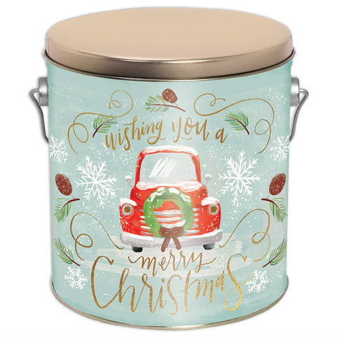 Vintage Christmas Three Gallon Tin