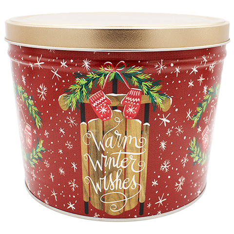Warm Winter Wishes Three Gallon Tin