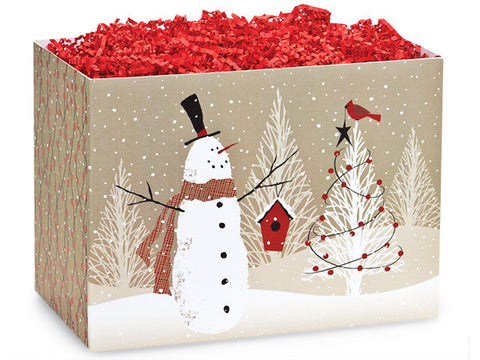 Woodland Snowman Small Box
