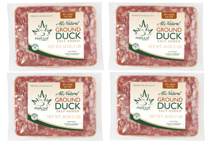 All Natural Ground Duck Case - (4) 1lb packages