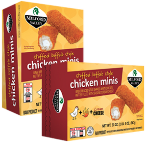 Milford Valley Stuffed Buffalo Chicken Minis Case - 6 Cartons