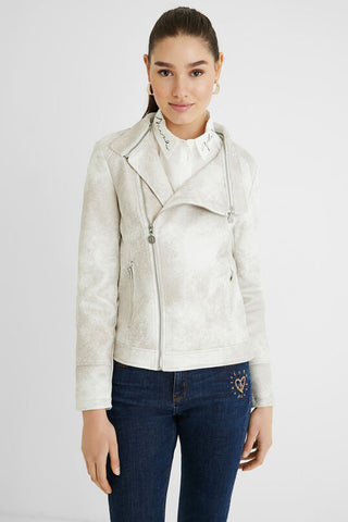 Jacket Broward Slim Embroidery Biker style