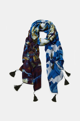 Camoflower rectangular foulard