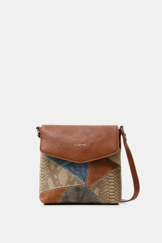 Little square sling bag reptile patch