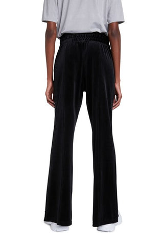 Pant Pintuck Solid Color Black Velour