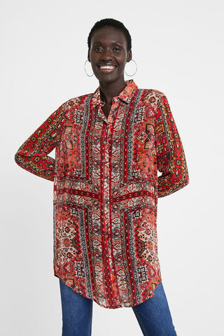 Long Shirt ethnic friezes