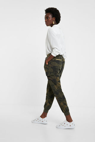 Camoflower cargo trousers