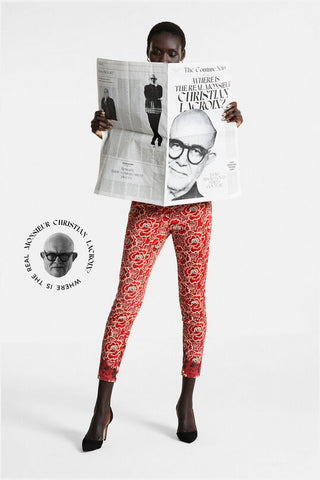 Skinny floral trousers -  DESIGNED BY M. CHRISTIAN LACROIX