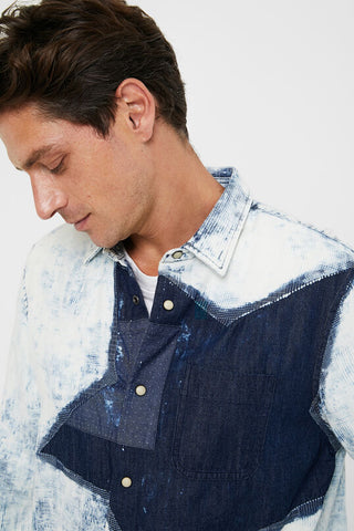 "Desigual Men's Cotton Shirt ""Star"""