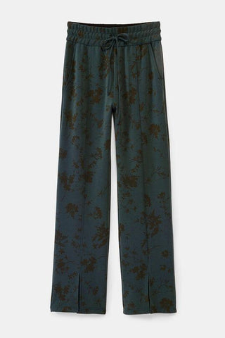 Floral trousers open at hem