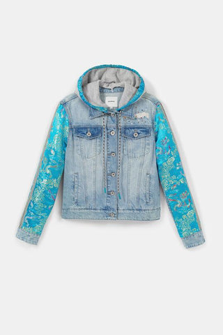 Desigual Jean and oriental patch jacket