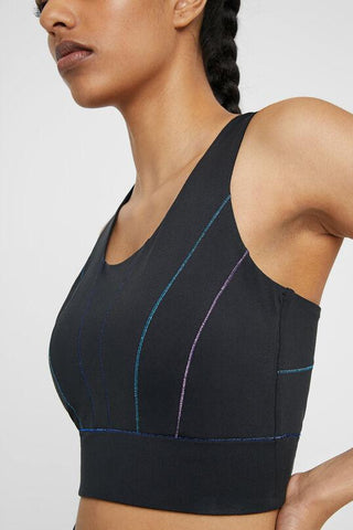 Cross Fit Top with multicolour seams