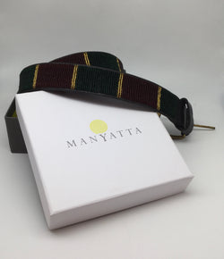 Burgundy, Dark Green & Gold (Vertical) - Manyatta