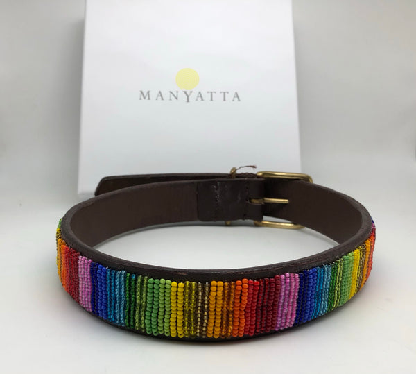 Rainbow collar - 19'' - 23'' only