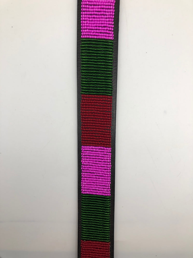 Deep pink, red and dark green - size 34 only