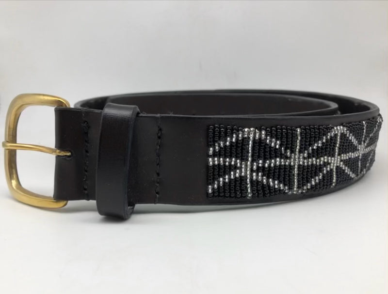Black with silver triangles and a silver buckle - size 36 only