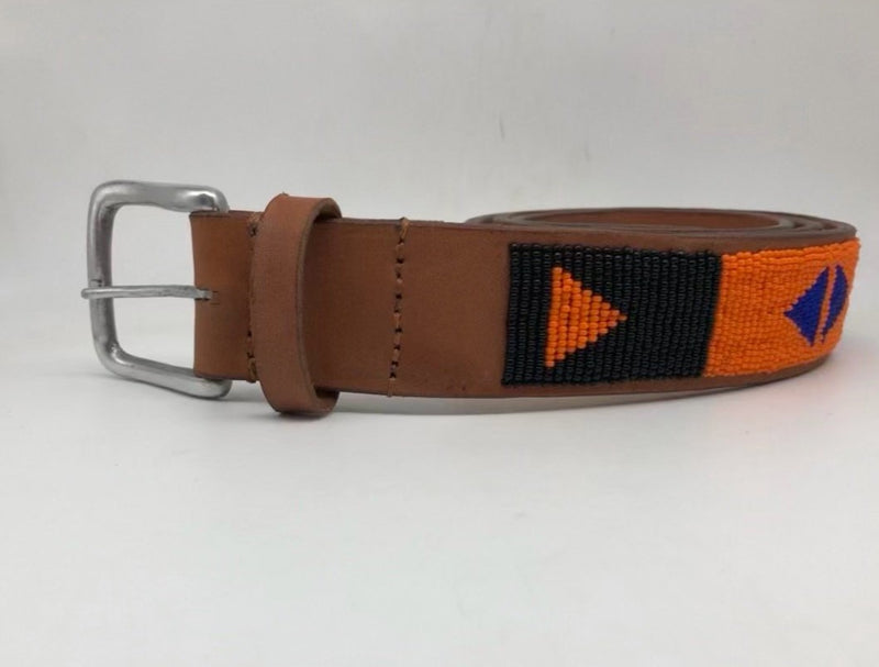 Turkana with light brown leather and a silver buckle - size 36 only