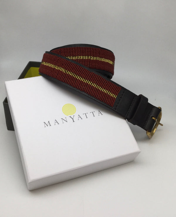 Red with Gold Stripe - Manyatta