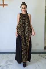 Black Batik Rectangular Dress