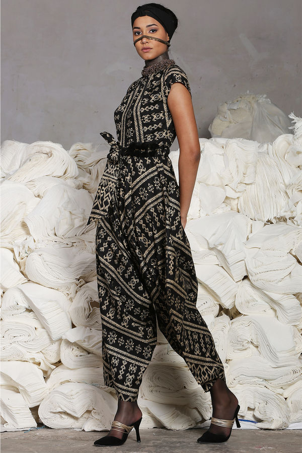 Black Batik Jumpsuit