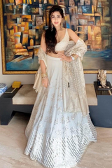 Bahaar Dhawan in Ivory Embroidered Lehenga Choli Set