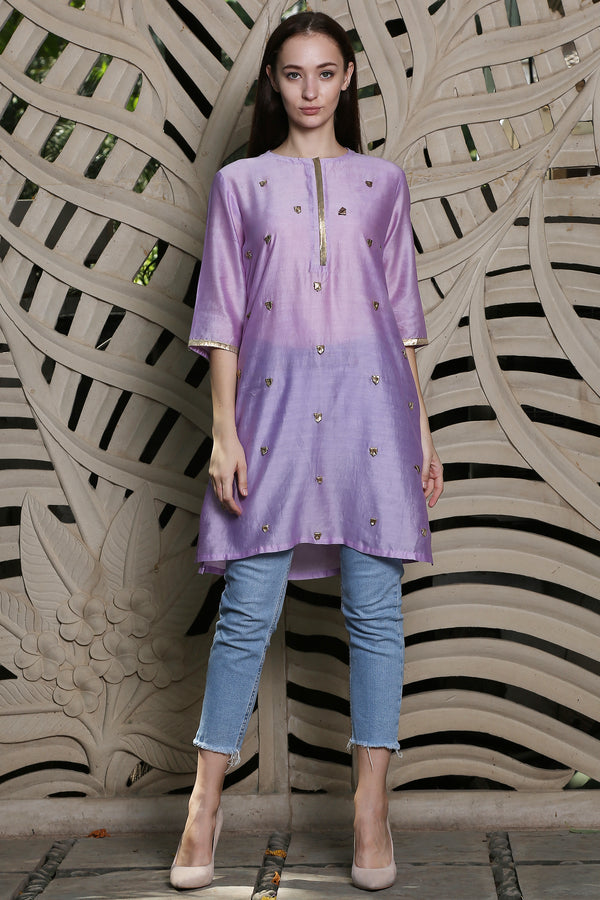 Purple Loops Kurta