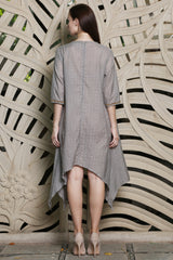 Grey Long Kurta With Loops