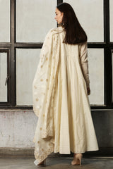 Ivory Loop Yoke Anarkali
