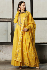 Mango Embroidered Anarkali - Set Of 3