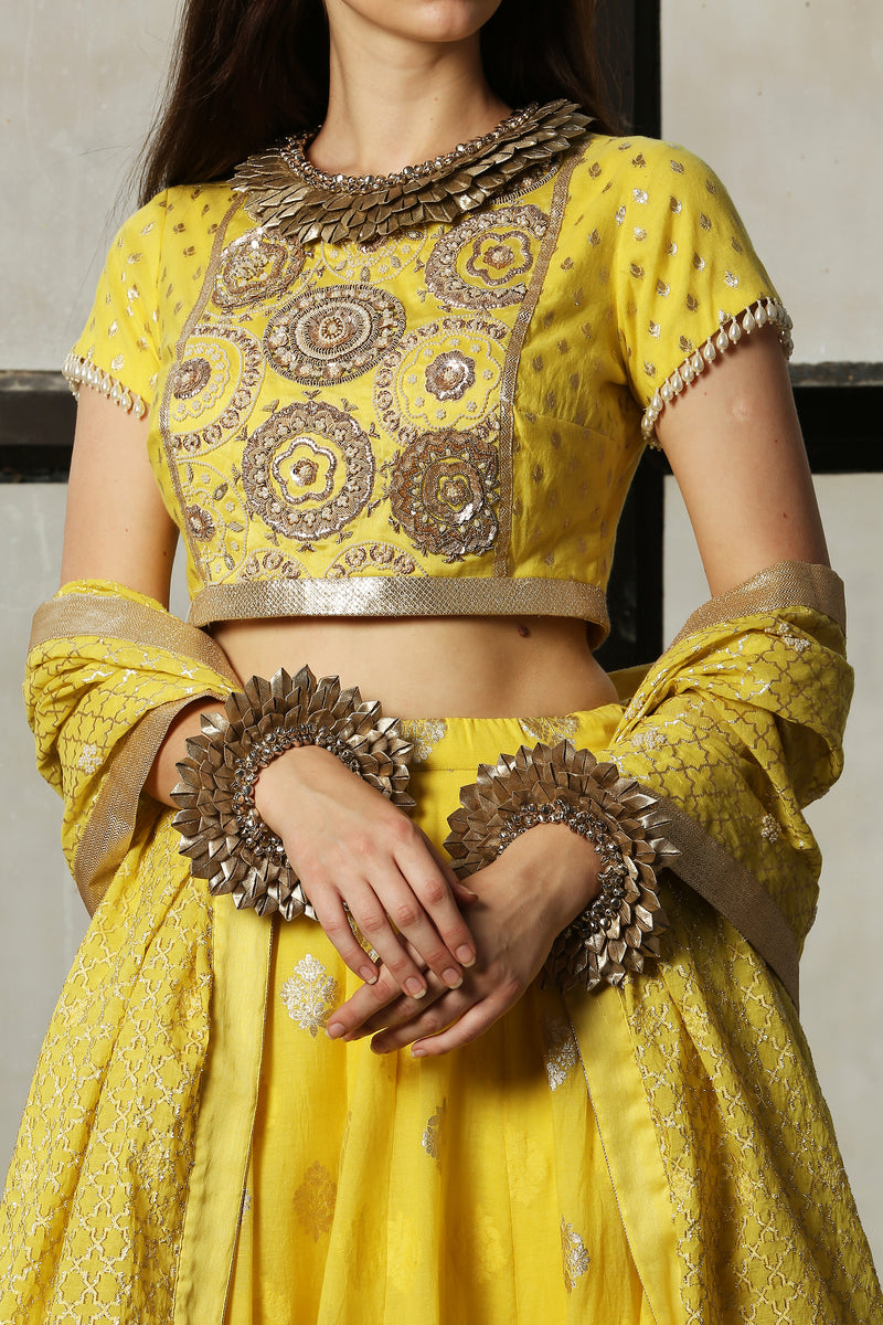 Lemon Yellow Embroidered Blouse