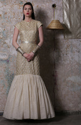 Ivory Gold Embroidered Gown