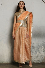 Pink Chanderi Embroidered Saree