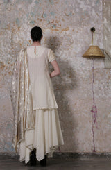 Ivory Tiered Kurta Set