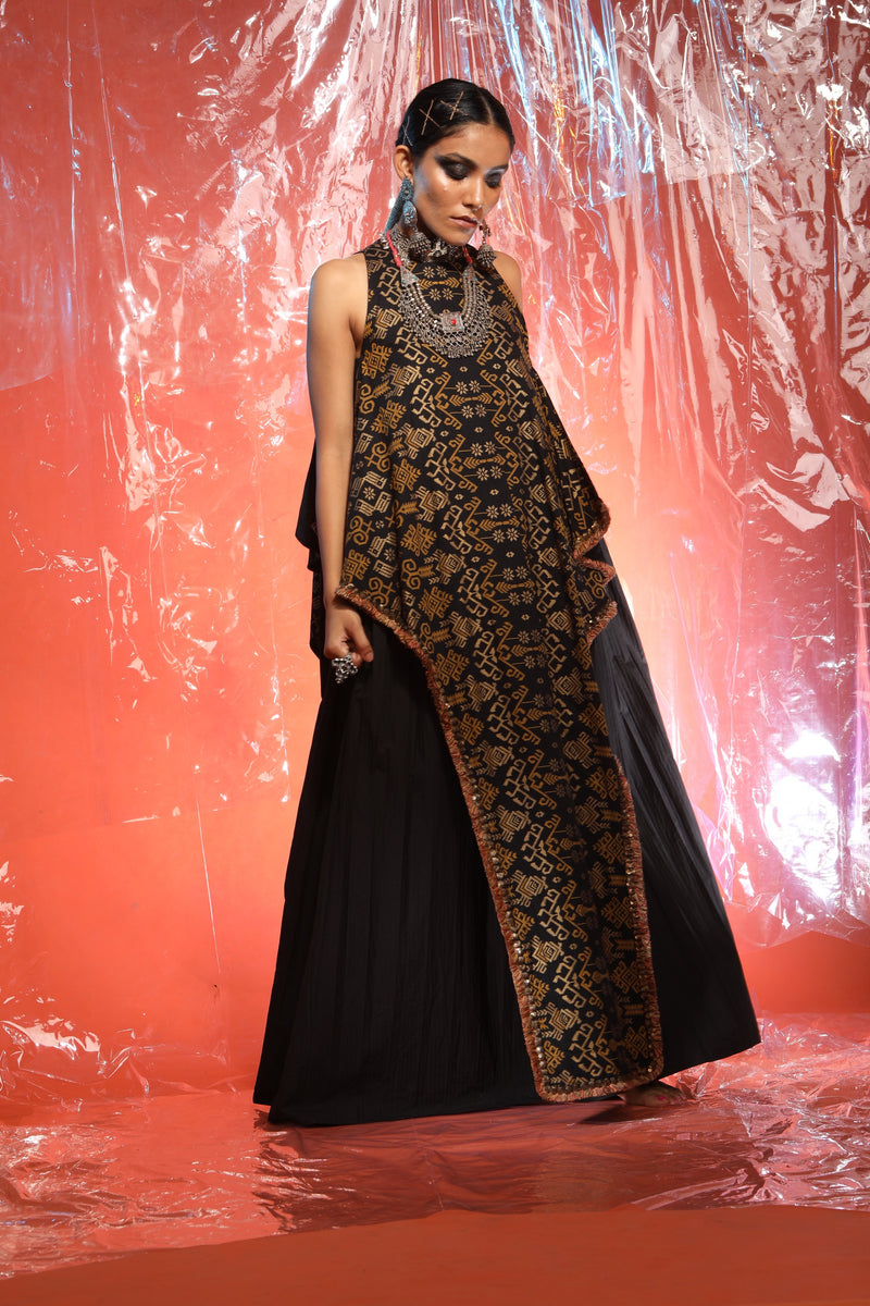 Purva Thakur in Black Rectangular Dress