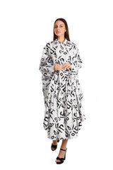 Black & White  Batik Poncho Dress