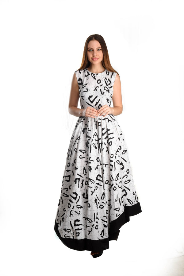 Black & White  Batik Dress