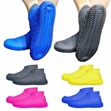 1 Pair Reusable Silicone Shoe Cover S/M/L Waterproof Rain Shoes Covers Outdoor Camping Slip-resistant Rubber Rain Boot Overshoes - Go Buy Dubai