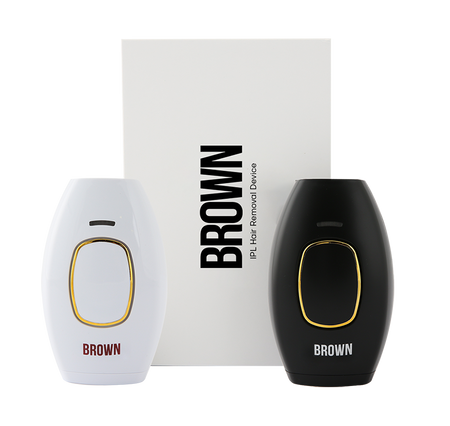 BROWN IPL - Make your Skin Silky - Wired Laser Depilator  Painless Hair Remover - with 1 year BROWN guarantee