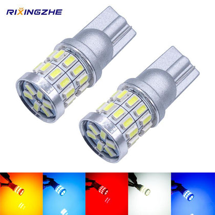 RXZ 1PCS w5w led T10 LED Bulbs Canbus 18SMD 3014 For Car Parking Position Lights,Interior Map Dome Lights 12V White Amer bright - Go Buy Dubai