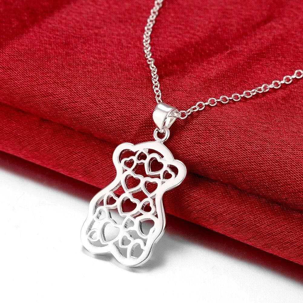 Heart to Heart  Pendant Women's  Silver Plated Necklaces