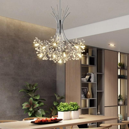 Modern LED chandelier lighting Nordic restaurant pendant lamps bedroom fixtures dining room crystal hanging lights - Go Buy Dubai