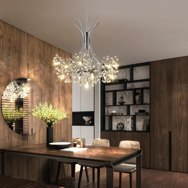 Modern LED chandelier lighting Nordic restaurant pendant lamps bedroom fixtures dining room crystal hanging lights
