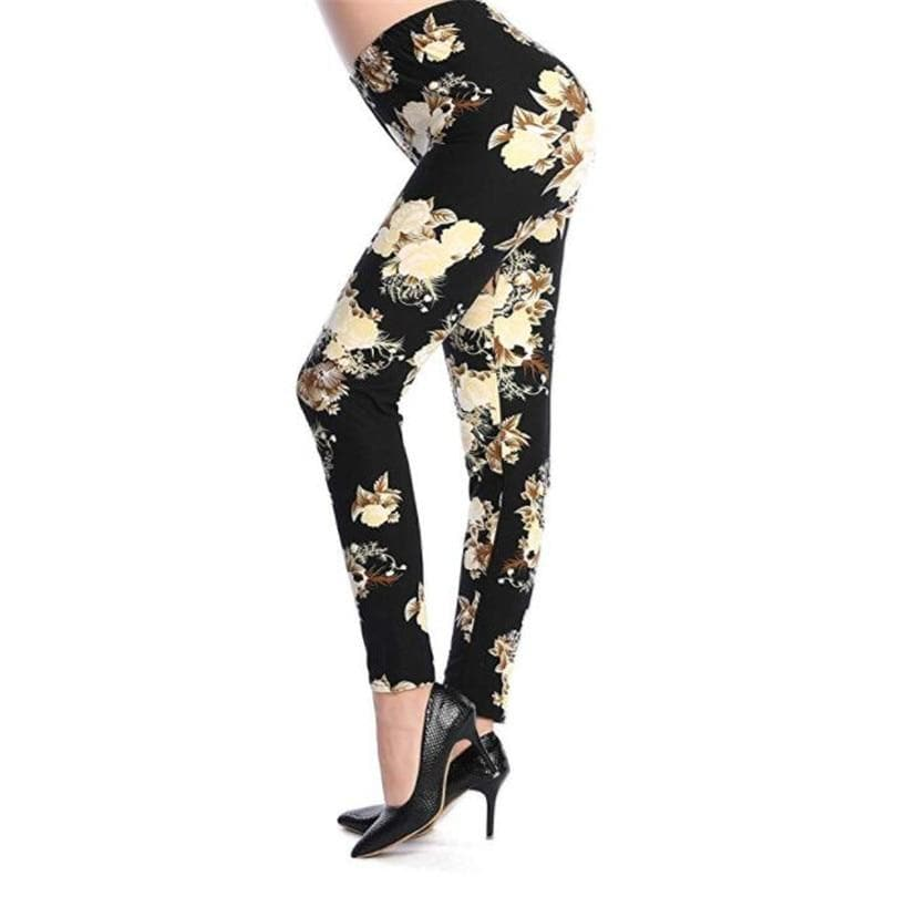 The Hot 2020 Print Flower Leggings Guitar Plaid Thin Pant Fashion Stripe Women